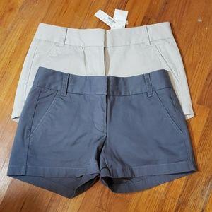 TWO pairs, J crew Chino shorts